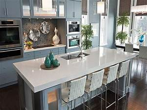 kitchen counter design options jackie syvertsen With kitchen colors with white cabinets with van gogh wall art