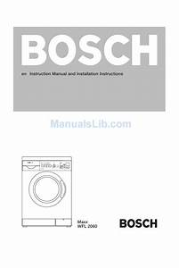 Bosch Maxx Wfl 2060 Instruction Manual And Installation