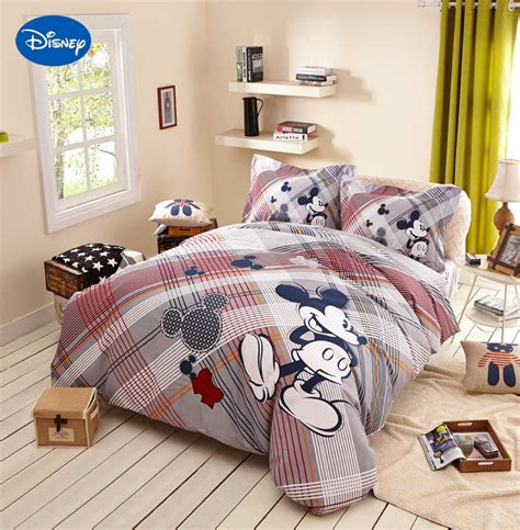 home design bedding mickey mouse comforters bedding textile children s home decor twin queen cartoon disney sanding