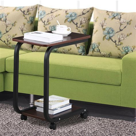 Sofa Tray Tables by Coffee 2 Tier Sofa Side End Snack Tray Table Cart Rolling