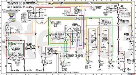 1978 Ford Bronco Turn Signal Wiring Diagram by 1976 Ford Bronco Tech Diagrams Picture Supermotors Net