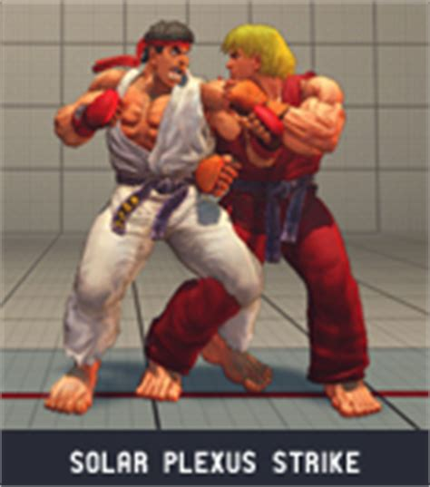 solar plexus punch boxing ryu super street fighter 4 moves combos guide fighting