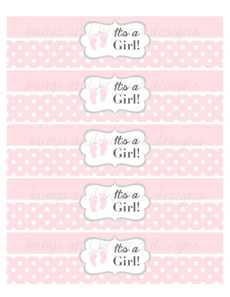 Precious Moments Baby Shower Theme by Water Bottle Labels Baby Feet It S A Bumpandbeyonddesigns