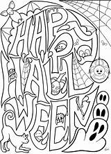 Halloween Coloring Printable Above Credit sketch template