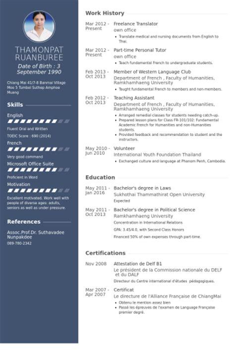 translate resume from to portuguese resume in for translator