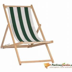 Chilienne En Bois : chilienne en bois et coton cancale ray vert ~ Teatrodelosmanantiales.com Idées de Décoration