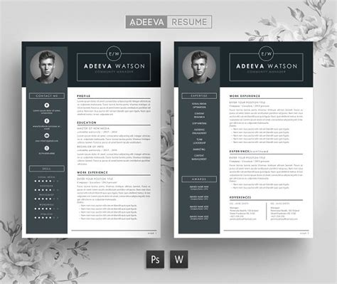 Creative Professional Resume Templates by Professional Resume Template Watson Resume Templates