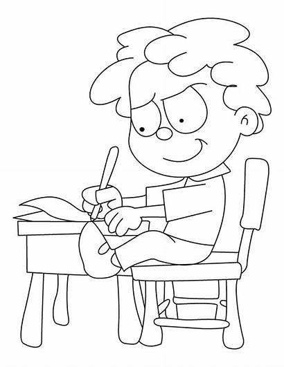 Writing Coloring Pages