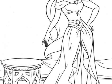 Get This Princess Jasmine Printable Coloring Pages For