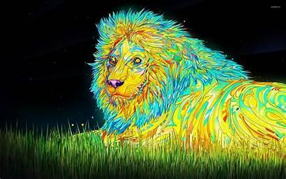 Lion Colorful Psychoactive