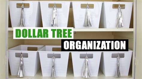 diy dollar tree storage bins dollar store diy organizing diy home organization youtube
