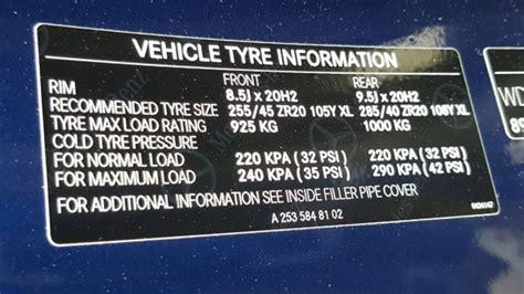 mercedes benz glc class tyre pressure carsguide
