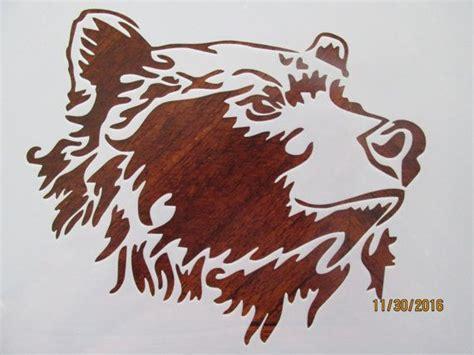 bear stencil reusable  mil mylar bear stencil bear