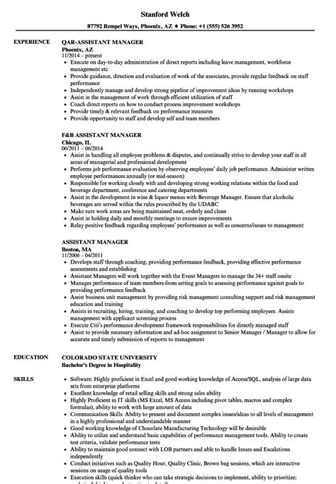 Assistant Manager Resume by Assistant Manager Resume Sles Velvet