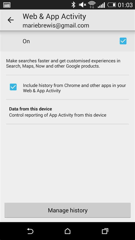 how to check history on android how to stop search history on android turn web