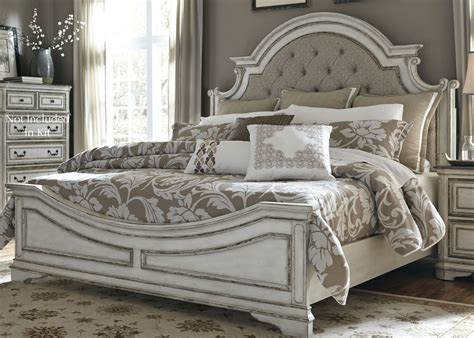 Antique White Bedroom Sets by Magnolia Manor Antique White Upholstered Panel Bedroom Set
