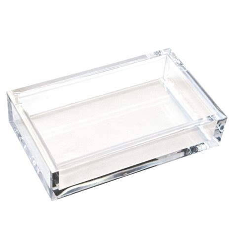 Guest Napkin Holder For Bathroom by Acrylic Dinner Napkin Guest Towel Holder Salty Home