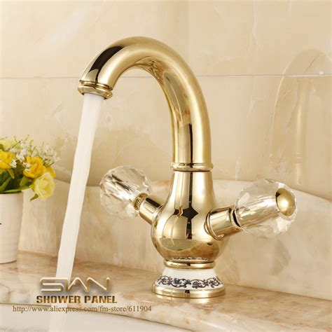 Gold Color Bathroom Faucets by Gold Color Brass Bathroom Faucet Lavatory Vessel Sink