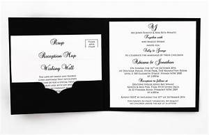 black and white textured invitation red rose invitations With textured pocket wedding invitations