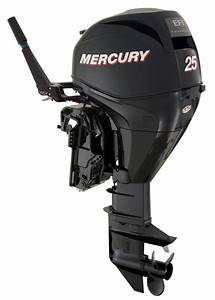 Mercury 25 Hp 4 Stroke Outboard Motor Tiller 15 U0026quot  Shaft Boat Engine