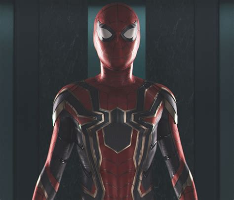 "Get A Closer Look At Spiderman's ""iron Spider Suit"" From"