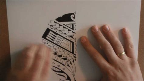 draw  maorisamoan style calf tattoo design youtube