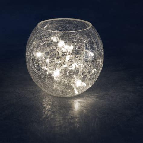 Konstsmide Indoor 24cm Crackle Glass Vase With 32 Warm