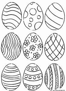Dessin A Imprimer De Paques : coloriage oeuf de paquess pattern ~ Melissatoandfro.com Idées de Décoration