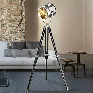 Modern marine signal tripod floor lamp living room for Lamp to light whole room
