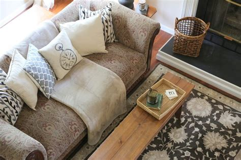 throw blankets for couches updating a dated sofa home staging trick from the