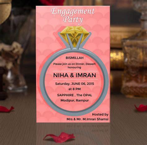 engagement invitation designs psd ai word design
