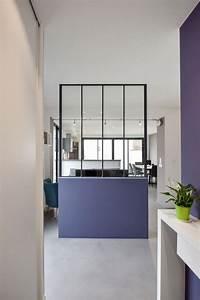 Separation entre cuisine et salon good dans ce petit for Awesome couleur de peinture pour une entree 13 cuisine ouverte sur salle salon et entree