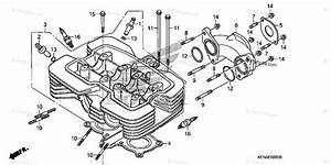 Honda Motorcycle 2012 Oem Parts Diagram For Cylinder Head