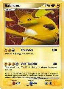 Pokémon Raichu ex 60 60 - Thunder 100 - My Pokemon Card
