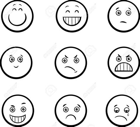 black and white south six 54267307 black and white illustration of emoticon
