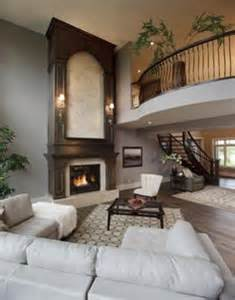 Spectacular Two Story Living Room by 1000 Ideas About Two Story Fireplace On