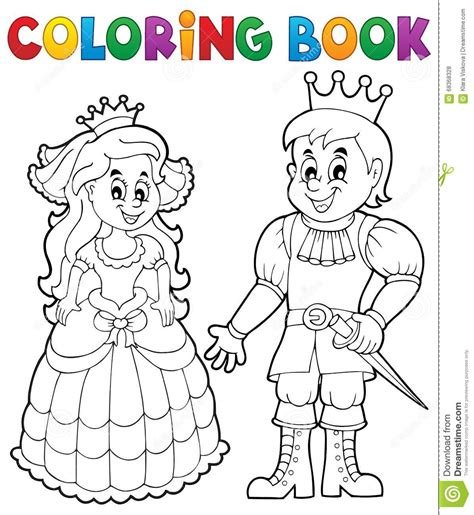 Coloring Book by Coloring Book Princess And Prince Stock Vector Image