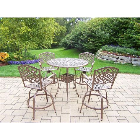 oakland living elite mississippi 5 piece aluminum patio
