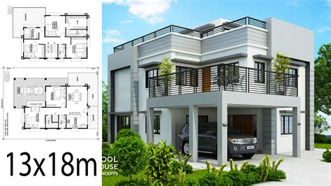 5 Modern House Plans with 2 Story level House Plan Map