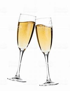 Cheers Two Champagne Glasses Stock Photo & More Pictures ...  Cheers