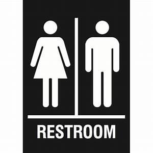 family restroom black sign men women bathroom signs With men and women bathroom symbols