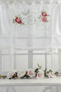Raffrollo Landhaus Shabby : rose garden raffrollo 120x120cm weiss rosen spitze ~ Watch28wear.com Haus und Dekorationen