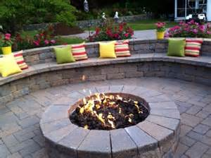 paver patio designs with fire pit landscape ideas