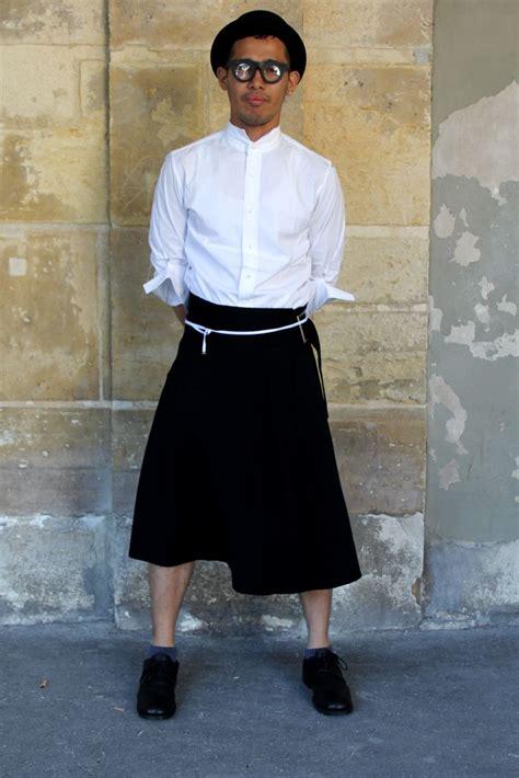 ecole de la chambre syndicale de la couture parisienne jupe homme