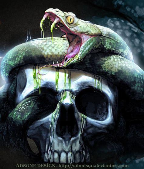 Skull Artwork Images Skulls Snake Adonis