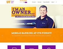 Credit Union Website Template by Free Vintage Flyer Template Psd On Behance