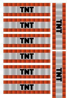 minecraft printable tnt labels minecraft printables