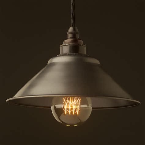 rustic pendant lighting rustic steel light shade 190mm pendant