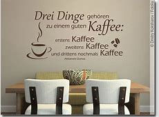 Wandzitat Kaffee Rezept Wandtattoo Spruch für Küche