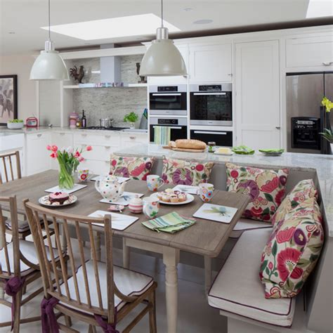 L Shaped Kitchen Island Ideas - kitchen diners that are rocking a bench seat ideal home